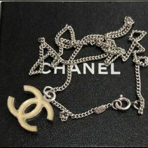 🆕 Chanel CC Silver Necklace, in Box 🎁